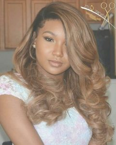 Medium Hairstyles With Color For Black Women