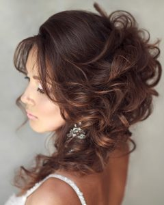 Sleek French Knot Hairstyles With Curls