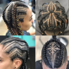 Metallic Side Cornrows Braided Hairstyles (Photo 18 of 25)