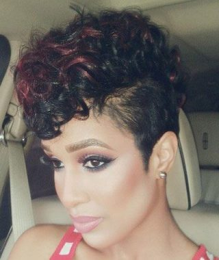 Red Curly Mohawk Hairstyles