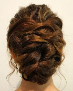 Messy Woven Updo Hairstyles For Mother Of The Bride
