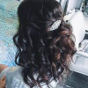 Pinned Brunette Ribbons Bridal Hairstyles (Photo 4 of 25)