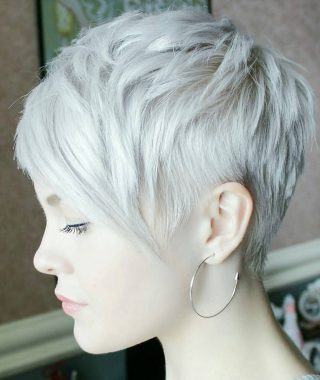 Gray Blonde Pixie Haircuts