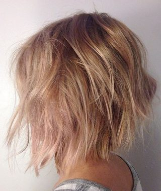 Texturized Tousled Bob Hairstyles