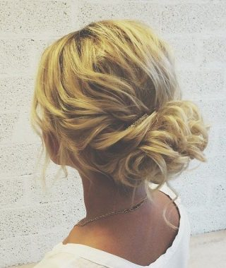 Curly Messy Updo Wedding Hairstyles For Fine Hair