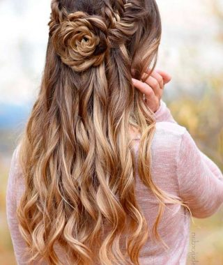 Curly Knot Sideways Prom Hairstyles