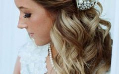 Dimensional Waves In Half Up Wedding Hairstyles