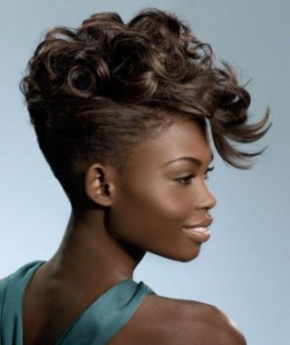 Divine Mohawk-Like Updo Hairstyles