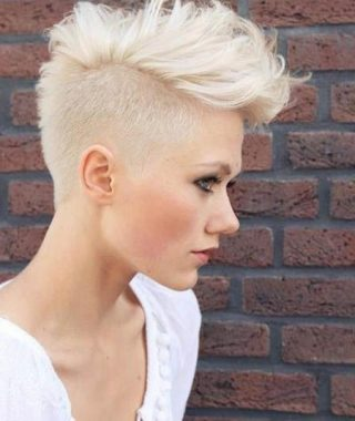 Platinum Mohawk Hairstyles With Geometric Designs