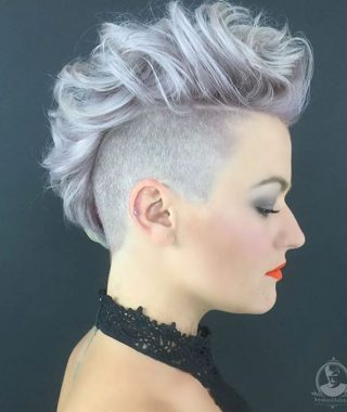 Stunning Silver Mohawk Hairstyles