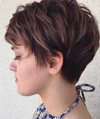 Layered Pixie Hairstyles With An Edgy Fringe