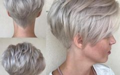Choppy Pixie Hairstyles With Tapered Nape