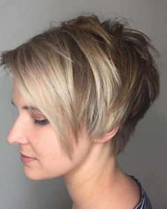 Choppy Side-Parted Pixie Bob Haircuts