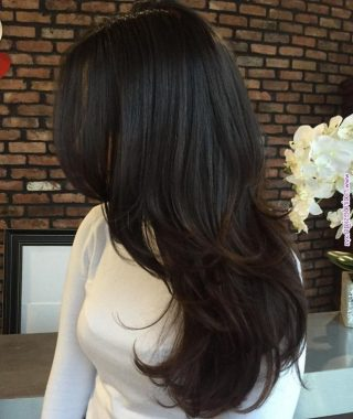 Swoopy Flipped Layers For Long Hairstyles