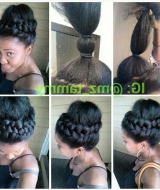 Updo Hairstyles With Braiding Hair