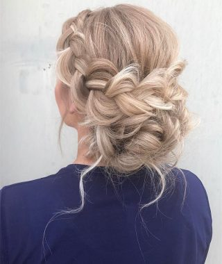 Romantic Prom Updos With Braids