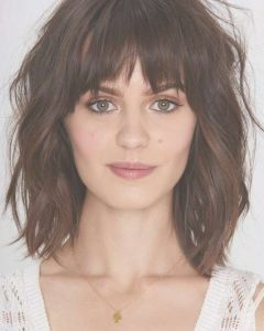 Round Face Medium Hairstyles With Bangs