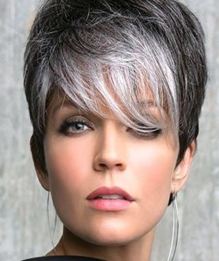 Gray Hair Pixie Hairstyles