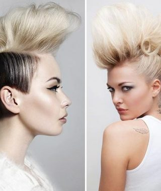 Whipped Cream Mohawk Hairstyles