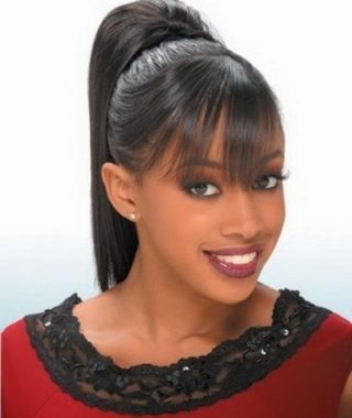 High Black Pony Hairstyles For Relaxed Hair
