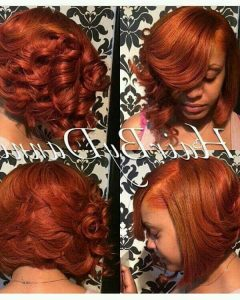 Burnt Orange Bob Hairstyles With Highlights