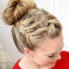 Triple Under Braid Hairstyles With A Bun (Photo 14 of 25)