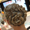 Floral Bun Updo Hairstyles (Photo 18 of 25)