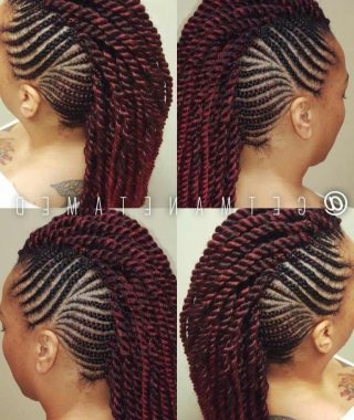 Twisted Braids Mohawk Hairstyles