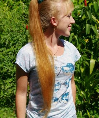 Waist-Length Ponytail Hairstyles With Bangs