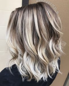 Icy Ombre Waves Blonde Hairstyles