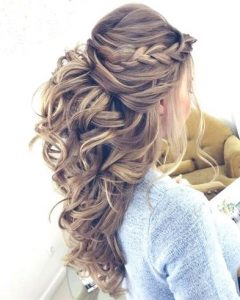 Curly Wedding Updos With A Bouffant