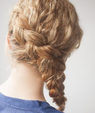 Romantic Curly And Messy Two French Braids Hairstyles