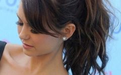 Wavy Ponytails With Side Bangs
