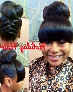 Quick Weave Updo Hairstyles