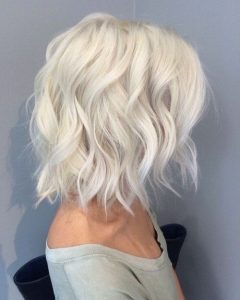 Icy Blonde Shaggy Bob Hairstyles