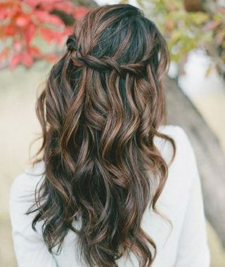 Easy Side Downdo Hairstyles With Caramel Highlights