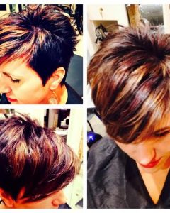 Messy Pixie Hairstyles With Chunky Highlights