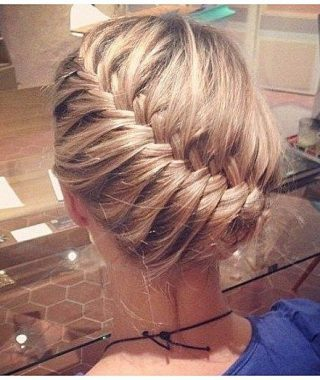 Diagonal Braid And Loose Bun Hairstyles For Prom