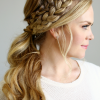 Twin Braid Updo Ponytail Hairstyles (Photo 13 of 25)
