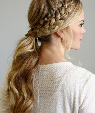 Blonde Pony With Double Braids