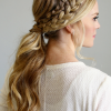 Blonde Ponytails With Double Braid (Photo 1 of 25)