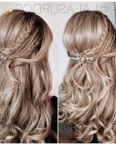 Braided Crown With Loose Curls