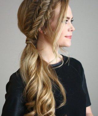 Fabulous Fishtail Side Pony Hairstyles