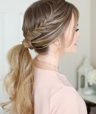 Wrapping Fishtail Braided Hairstyles