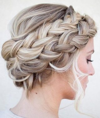 Double French Braid Crown Hairstyles