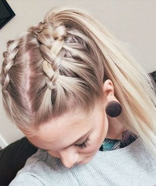 Trendy Ponytail Hairstyles With French Plait