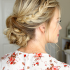 Side Lacy Braid Bridal Updos (Photo 7 of 25)