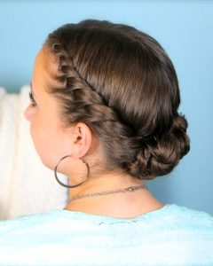 Twisted Bun Updo Hairstyles