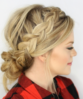 Messy French Braid With Middle Part