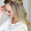 Updo Halo Braid Hairstyles (Photo 11 of 25)